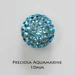 10mm Preciosa Crystal Pave Beads