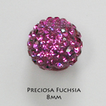 8mm Preciosa Crystal Pave Beads