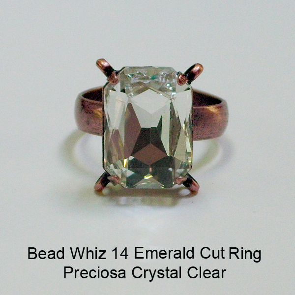 BW14 Glass Emerald Cut Ring