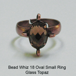 BW18 Glass Oval Ring