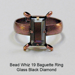 BW19 Glass Baguette Ring