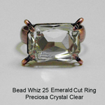 BW25 Glass Emerald Cut Ring