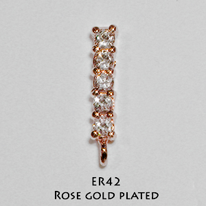 Brass ER42_Rose Gold Plated