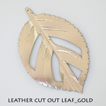 Leather Cut Out Leaf_Gold