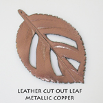 Leather Cut Out Leaf_Metallic Copper
