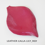 Leather Calla Lily_Red
