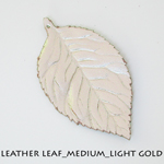 Leather Leaf_Medium_Light Gold