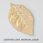 Leather Leaf_Medium_Gold