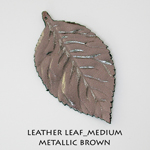 Leather Leaf_Medium_Metallic Brown