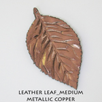 Leather Leaf_Medium_Metallic Copper