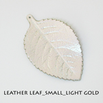 Leather Leaf_Small_Light Gold