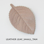 Leather Leaf_Small_Tan