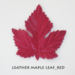 Leather Maple Leaf_Red