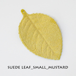 Suede Leaf_Small_Mustard