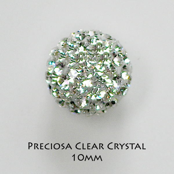 10mm Preciosa Crystal Pave Beads - Click Image to Close