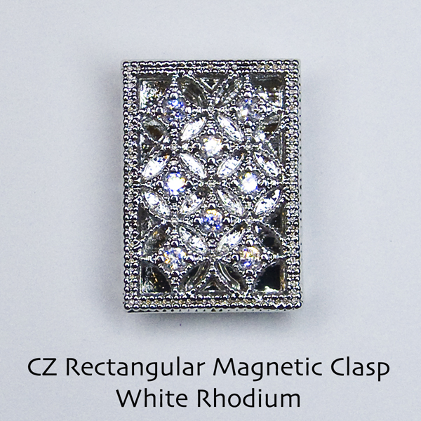 Filigree CZ Magnetic Clasps - Click Image to Close