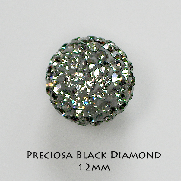 12mm Preciosa Crystal Pave Beads