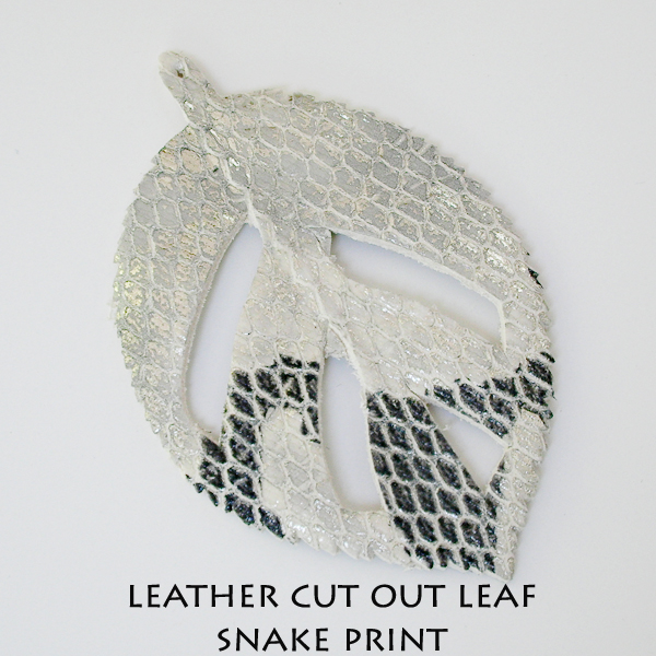 Leather Cut Out Leaf_Snake Print