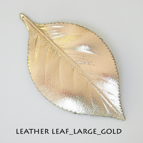 Leather Leaf_Large_Gold