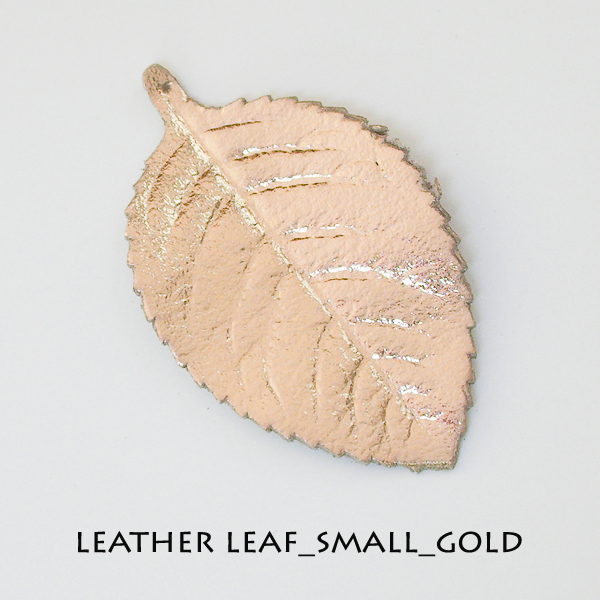 Leather Leaf_Small_Gold