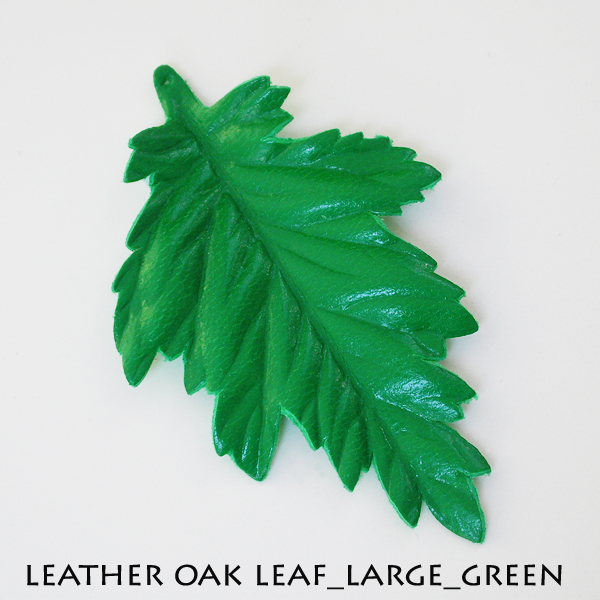 Leather Oak Leaf_Large_Green
