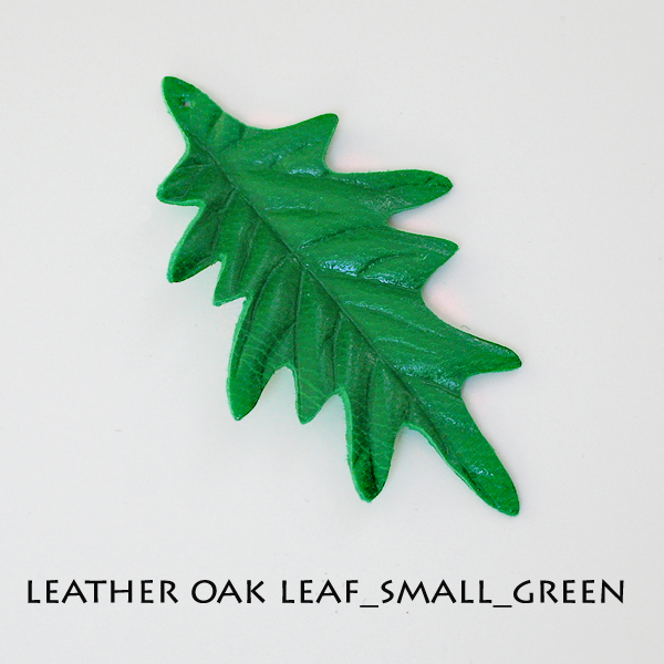 Leather Oak Leaf_Small_Green