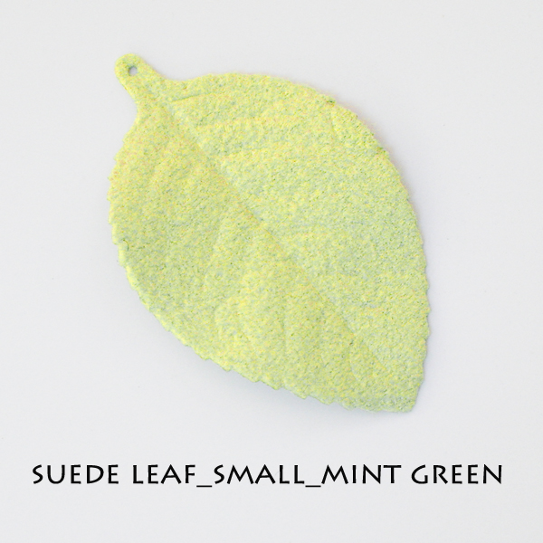Suede Leaf_Small_Mint - Click Image to Close